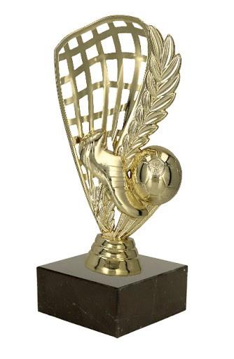 Fußball Pokal Netz in Gold 14 cm Hoch