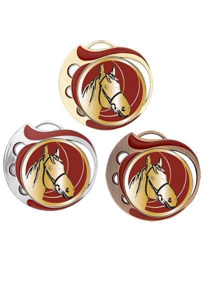Medaillen Pferdesport Gold / Rot