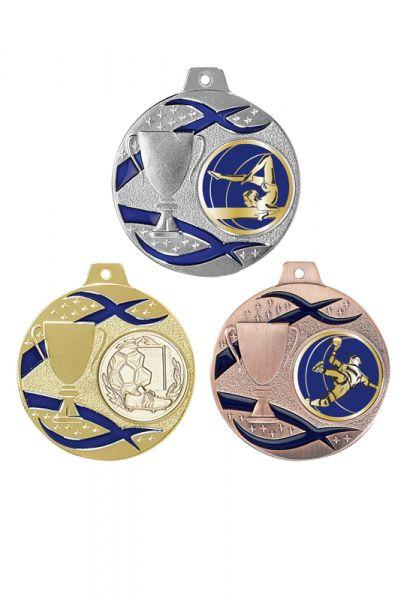 Budget Medaille Sowa Emailierte 50mm Medaille Lieferbar in Gold-Silber und Bronze