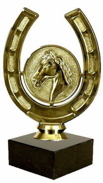 Kunststoff - Figur in Gold Pferdesport