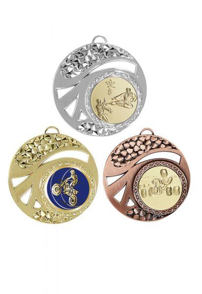 Budget Medaille 50mm Lieferbar in Gold-Silber und Bronze