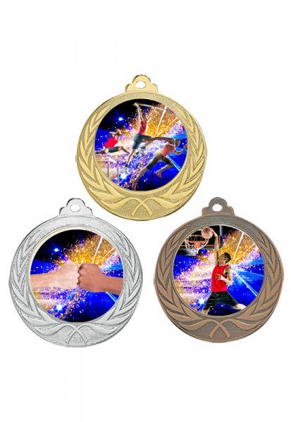 Budget Medaille 70mm Lieferbar in Gold-Silber und Bronze