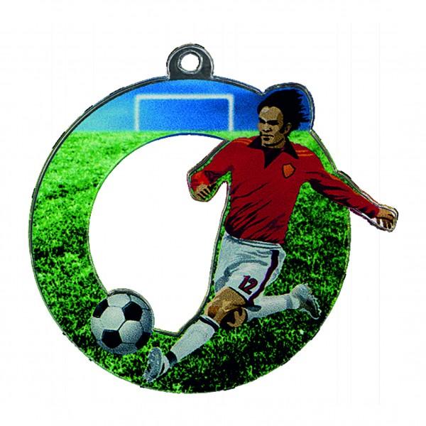 "Fußballmedaille ""Fußballer"" Acryl 50mm"