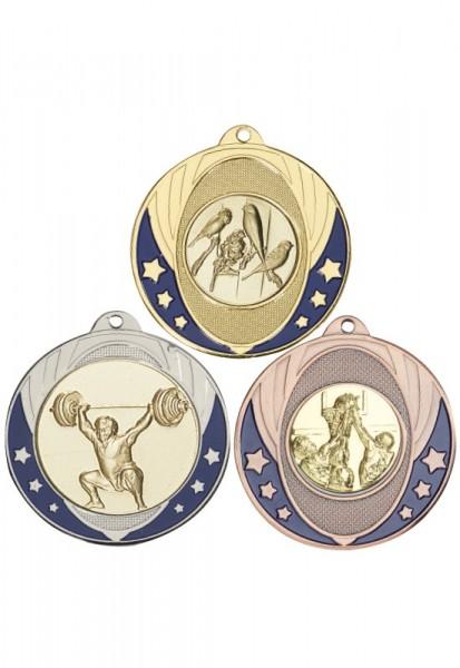 Emaillierte Medaille 50 mm Masivmetall 051 DL