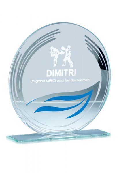 Glas Trophi mit Lasergravur in 3 Größen Lieferbar inkl. Standard Logo